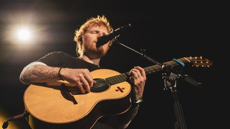 Ed Sheeran playing at Chantry Park, Ipswich, in his series of homecoming concerts. Picture: ZAKARY W