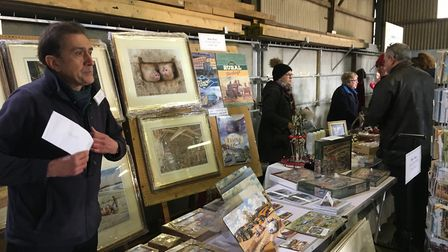 Market stalls at Pattocks Farm Open Day and Christmas Market, which is set to return this year PIc