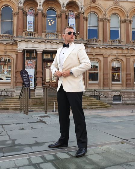 'James Bond' promoting this weekend's firework spectacular at Christchurch Park in Ipswich. Picture: