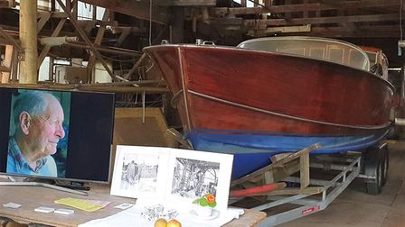 A display showed us the history of the boatyard. Picture: GEMMA JARVIS