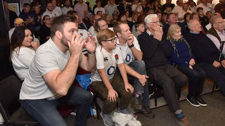 First half rugby World Cup action at Ipswich Rugby club . Picture: SONYA DUNCAN