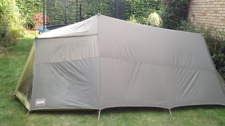 Natalie Sadler's husband's tent, which is 37 years old