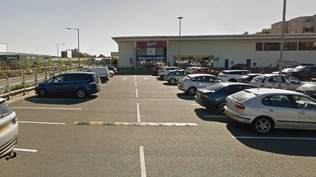 The B&M Car park in Stowmarket Picture: GOOGLE MAPS
