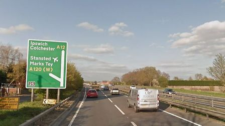The crash happened near the Marks Tey junction Picture: GOOGLE