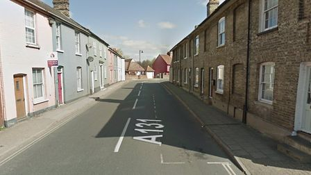 Cross Street in Sudbury, where six parking spaces will be removed from next year Picture: Google Map