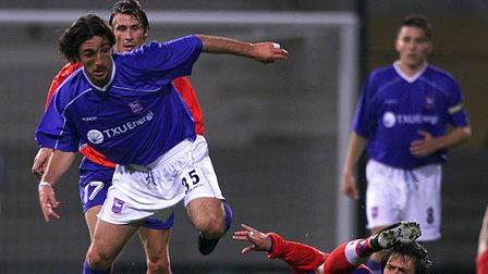 Ipswich Town's Sixto Peralta in action against Helsingborgs in 2001. Picture: PA SPORT