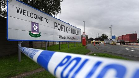 The Port of Tilbury where the bodies of the 39 people found inside a lorry in Essex are to be collec