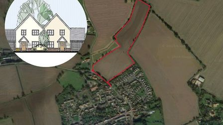 Plans to build 49 homes in Mendlesham have been rejected. Picture: GOOGLE MAPS/WINCER KIEVENAAR CHAR