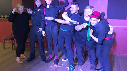 Improv comedy group Insert Laughter Here played a successful gig at The Hunter Club in Bury St Edmun
