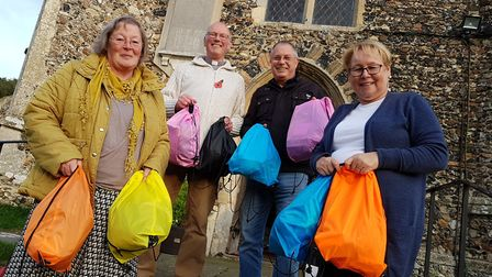 Saxmundham community have come together to provide winter bags for the homeless Picture: RACHEL EDG
