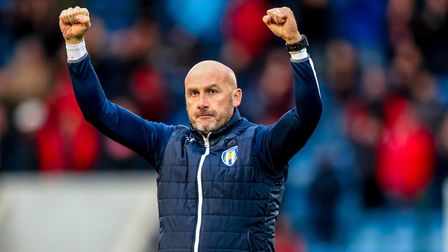 Colchester United boss, John McGreal, whose side will be going to Old Trafford for a Carabao Cup qua