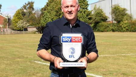 Ipswich Town manager Paul Lambert won the League One Manager of the Month award for August. Picture: