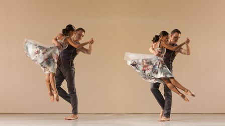 Ellen Yilma and Carmine De Amicis, from the Richard Alston Dance Company, performing Brahms Hungaria