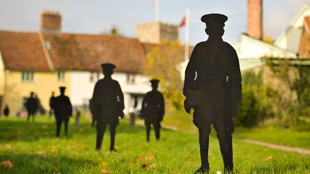 Kieron Palmer has created an installation of silhouettes of the 41 soldiers who lost their lives in