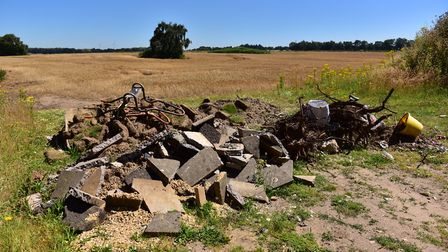 Hundreds of instances of fly-tipping have been recorded in East Suffolk. Picture: SARAH LUCY BROWN