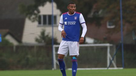 Ipswich Town defender Corrie Ndaba has joined Chelmsford City on loan. Photo: Ross Halls
