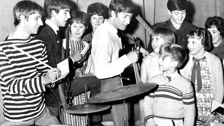 The Beatles meeting fans backstage at what was then called the Ipswich Gaumont Photo: Archant