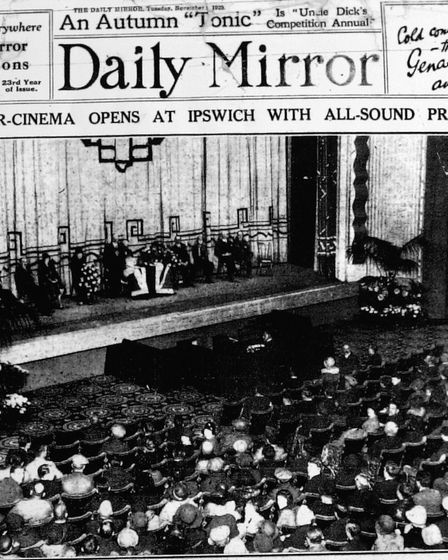 The front page of the Daily Mirror commemorating the opening of the Regent on November 4 1929