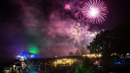 The fireworks at Heveningham Hall Picture: ALEX PARNELL