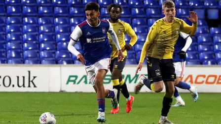 Idris El Mizouni in action during Town U23s game against Coventry City at Portman Road Picture: ROSS