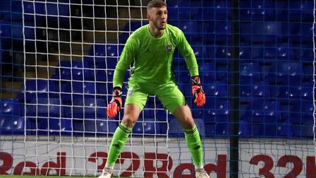 Adam Przybek in action during Town U23s game against Coventry City at Portman Road Picture: ROSS HAL