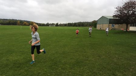 Runners were buffeted by strong winds at last Saturday's Harcourt Hill parkrun, on the edge of Oxfor
