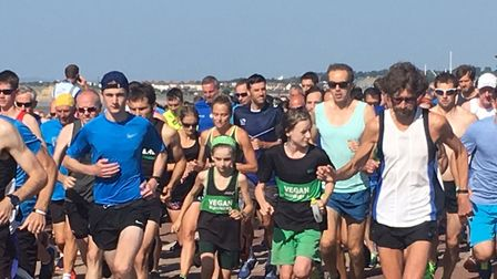 Runners set off at the start of the Hastings parkrun, on the promenade. Picture: HELEN MARSTON