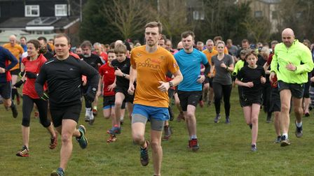 The start of the first-ever Haverhill parkrun, in Suffolk. Picture: PHIL MORLEY