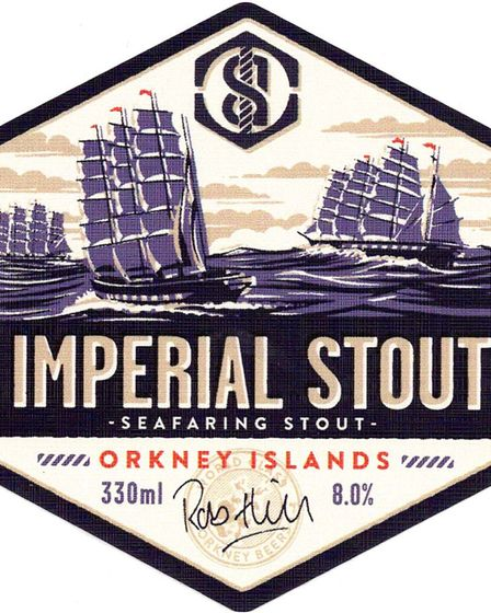 2nd place in the Standard Label contest - Swannay Brewery: Imperial Stout Picture: LABOLOGIST SOCIET