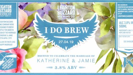 2nd place in the Commemorative Label contest - Leighton Buzzard Brewing Company's I Do Brew Picture: