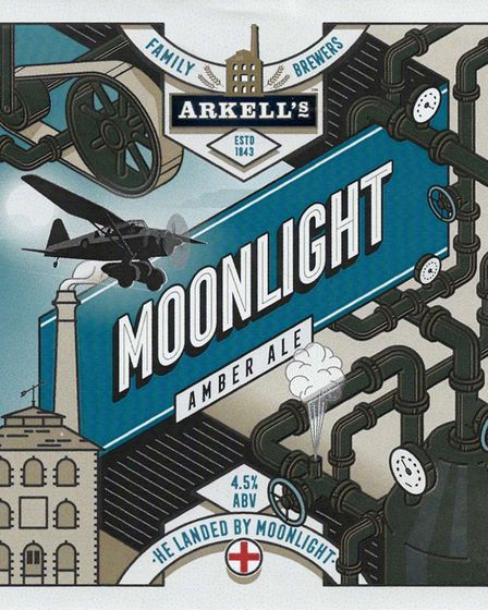 3rd place in the Commemorative Label contest - Arkell's Brewery: Moonlight Picture: LABOLOGIST SOCIE