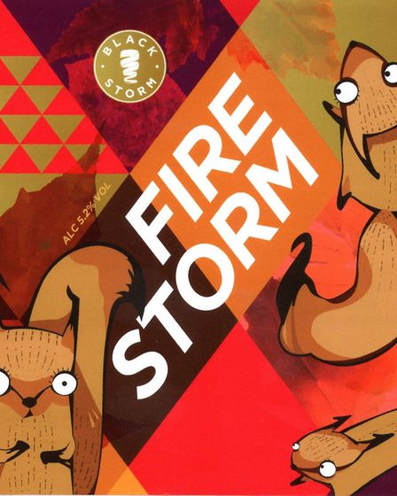3rd place in the Set of Labels contest - Black Storm Brewery. Fire Storm was one of a set of three P
