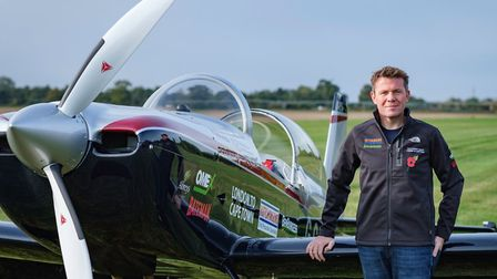 Giles Abrey is setting off on a more than 7,200 mile charity solo flight from London to Cape Town in