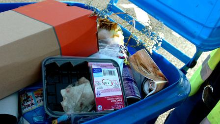 Glass waste is not accepted in recycling bins in Suffolk. Picture: ANDY ABBOTT