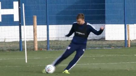 Freddie Sears is back in first team training for Ipswich Town as he continues his recovery from a se