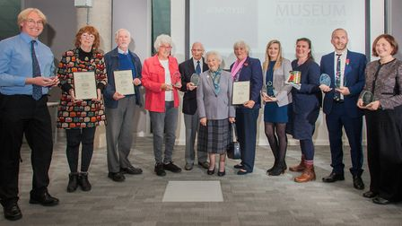 The winners of the 2019 Suffolk Museum Awards. Picture GARY PAGE