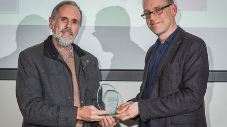 Adrian Chalkey from The Natural Science Volunteer Team, Ipswich Museum, who won Volunteers of the Ye