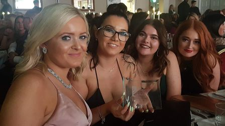 Bathsheba Spa staff with their award from the London Hair and Beauty Awards ceremony Picture: Bathsh