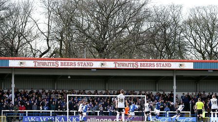 Spotland, the home of Rochdale AFC. Ipswich Town will pay their first-ever visit next Tuesday evenin