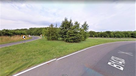 The two slip roads leading from the A12 on to the B1438 and vice versa will be closed next week. Pic