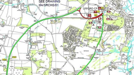 Suffolk Highways have advised of closures and diversions on Yarmouth Road in Ufford. Picture: COURTE