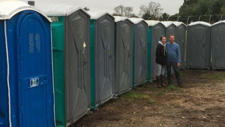 Field of Dreams community farm at Thurston has received an unusual donation, 50 portable toilets. M