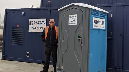 Steve Payne, chief executive of Davlav, which has donated 50 plastic portable toilets to the Field o