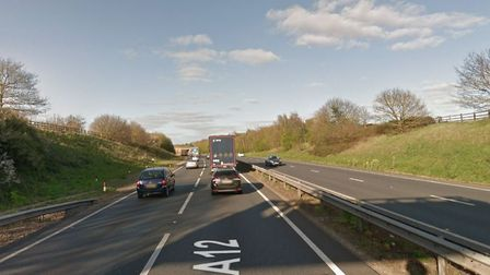 Police are appealing for witnesses after a van failed to stop at the scene of a crash on the A12. Pi