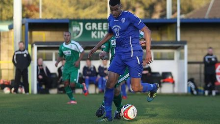Tyrone Mings in action for Chippenham shortly before signing for Ipswich in 2012. Picture: ROBIN FOS