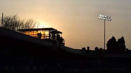 Sunset at the Wham Stadium in Accrington - Ipswich Town' destination for a 12noon kick-off this Sund