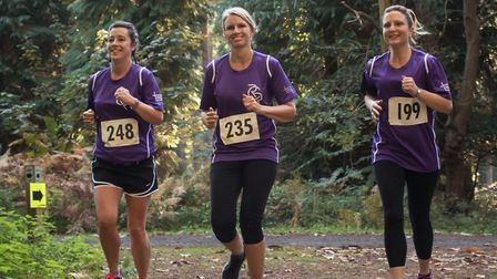 Fundraisers taking part in the first Honour Run last year Picture: SCDC