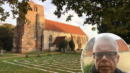 Simon Heron, one of the vicars at Lawford Church, says the vandalism is 'disrespectful'. Picture: SI