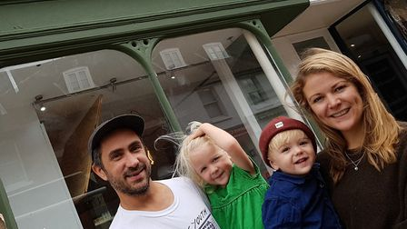 The Wrights outside their new premises Picture: RACHEL EDGE