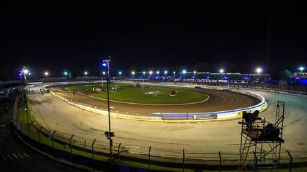 The Foxhall track ahead of the first leg of the play-off final. Picture: Steve Waller www.steph